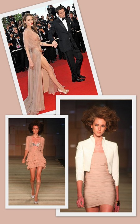 Angelina Jolie no Red Carpet e Looks Filhas de Gaia, à venda na Galpão de Estilo