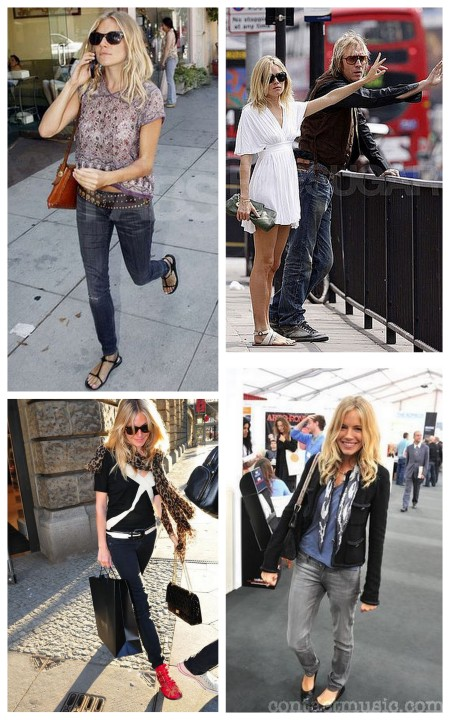 Sienna Miller: chic de flat shoes